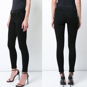 Anine Bing Black Distressed Knee Jeans Pants